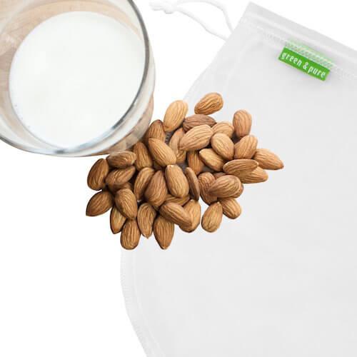 vegane Küche Nussmilchbeutel