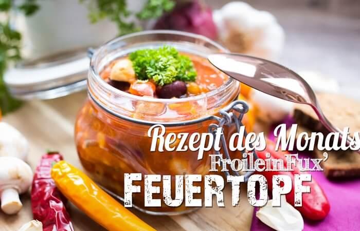 Rezept des Monats FroileinFux Feuertopf vegan Titelbild