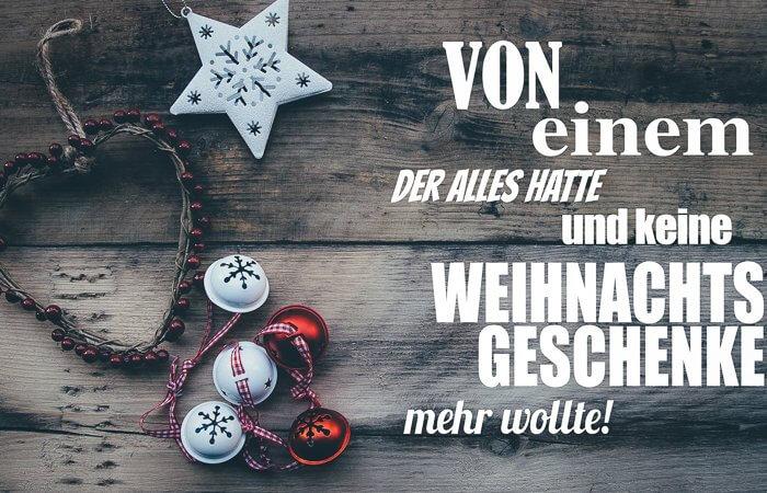 keine Weihnachtsgeschenke Titelbild
