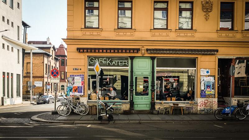 Leipzig vegan Café Kater