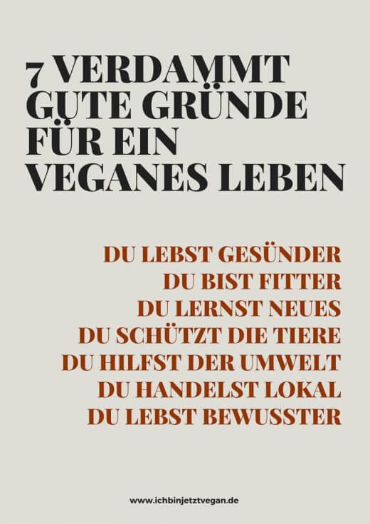 7 verdammt gute Gründe für ein veganes Leben
