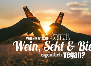 Sind Wein Bier Sekt vegan Titel