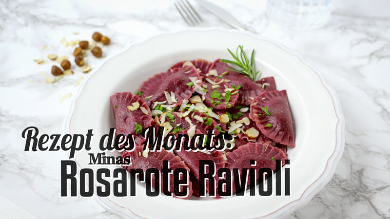 Rezept des Monats rosarote Ravioli Titelbild