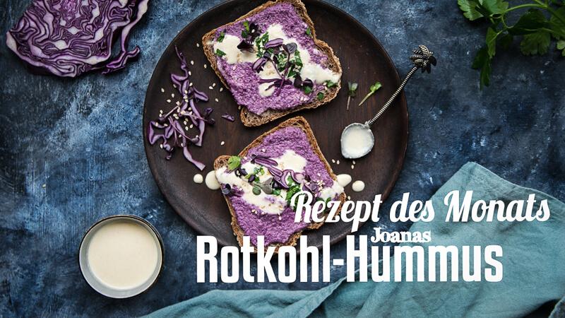 Joannas Rotkohl-Hummus Titelbild