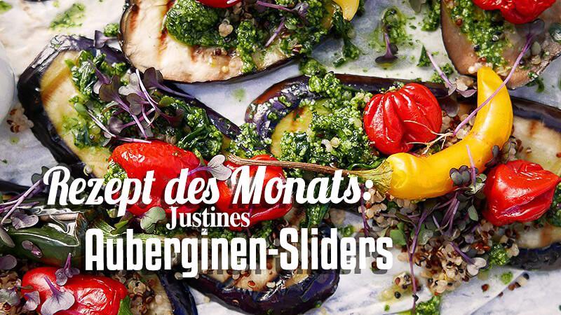 Rezept des Monats Justines Auberginen-Sliders Titelbild
